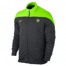 Lisburn Taekwondo Sideline Knit Jacket Adults - Anthracite/Electric Green